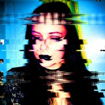 Glitch Witch. Self Portrait.