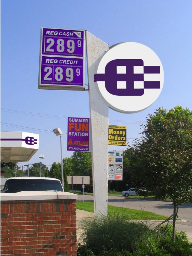 Veo Gas Sign